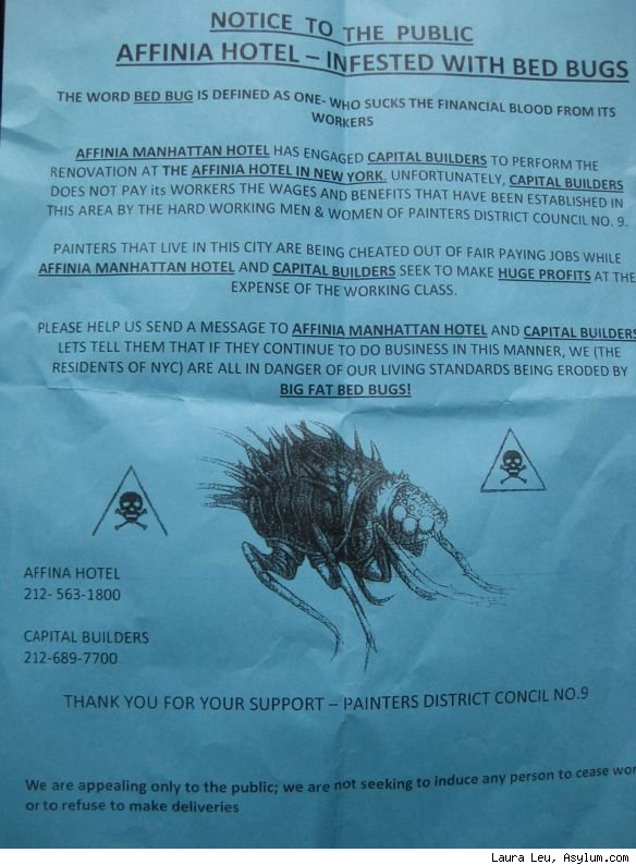 union bedbug replaces union rat bedbugville